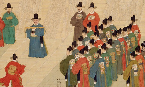 Inauguration of Officials that Were Selected Through the Imperial Examination in the Ming Dynasty