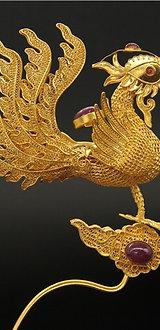 Filigree Inlaying Phoenix Hair Ornament Zan