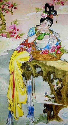 Chinese Flower Goddess of PeachBlossom