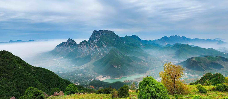 Panoramic View of Mount Song in Henan Province of China