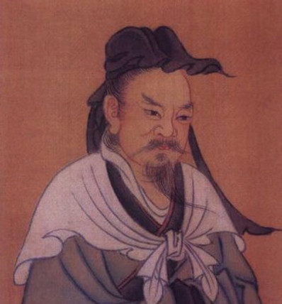 Portrait of Great Philosopher Dong Zhongshu of Han Dynasty