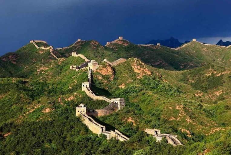 Beacon Towers on Ming Great Wall in Jinshanling Section
