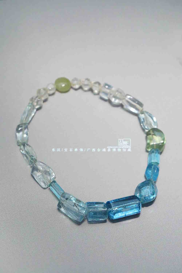 Gem Bracelet of the Han Dynasty (202 BC — 220 AD) — Hepu Museum of Guangxi (Photo by Dongmaiying)