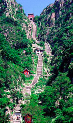 Stairs on the moutain