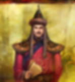 Minister Yelv Chucai of Yuan Dynasty in History of China