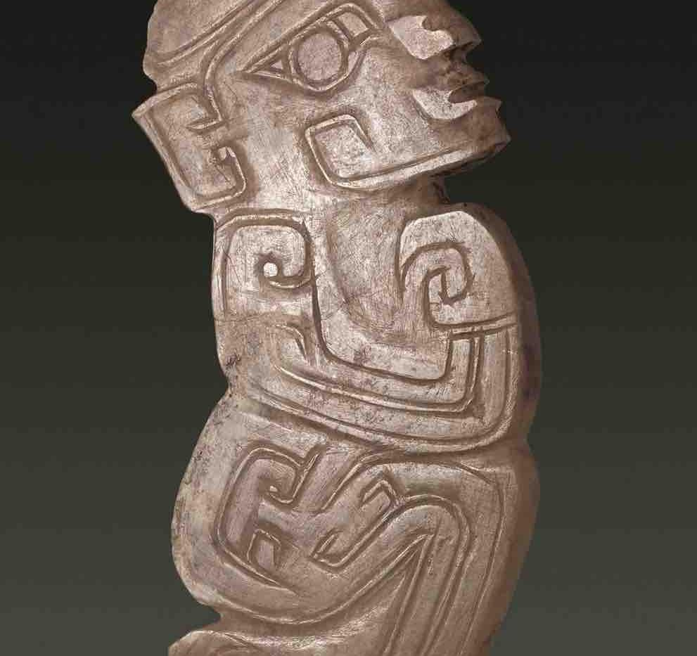 Jade Figurine Wearing Phoenix Crown of the Shang Dynasty