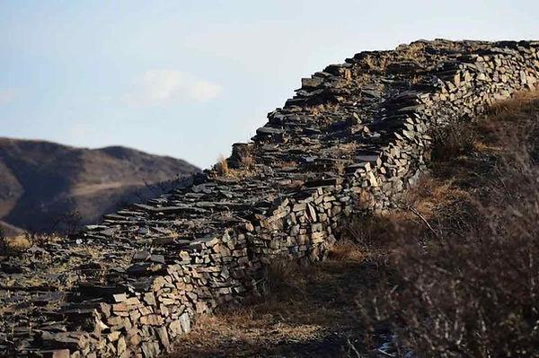 Ruins of Qin Great Wall in Guyang