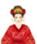 Beautiful queen of Han Dynasty Wei Zifu