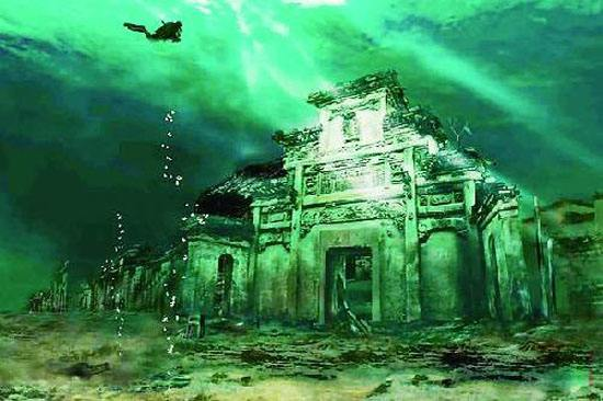 Ancient city under the lake