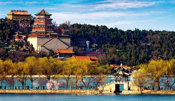 Part View of the new Summer Palace in Beijing Constructed Under Empress Dowager Cixi's Command