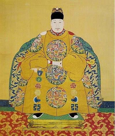 Portrait of Wanli Emperor Zhu Yijun, By Court Artist of the Ming Dynasty