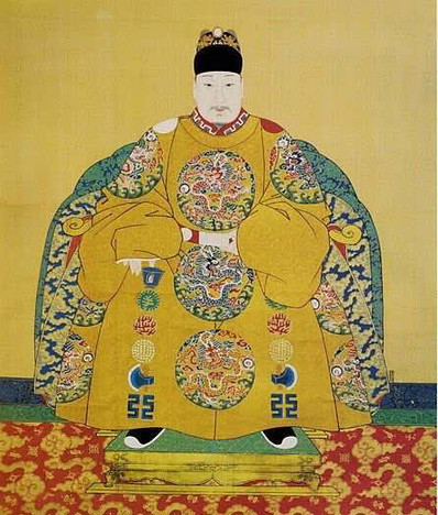 Portrait of Wanli Emperor Zhu Yijun, By Court Artist of the Ming Dynasty