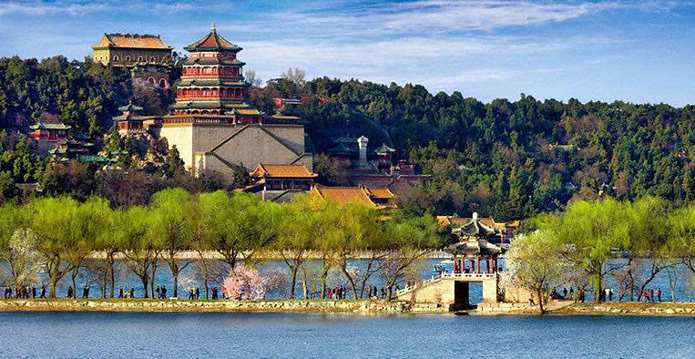Tourists in the Summer Palace