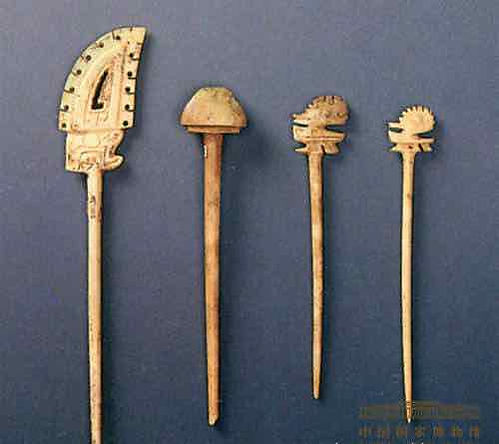 Unearthed Hairpin (Zan) of Queen Fu Hao