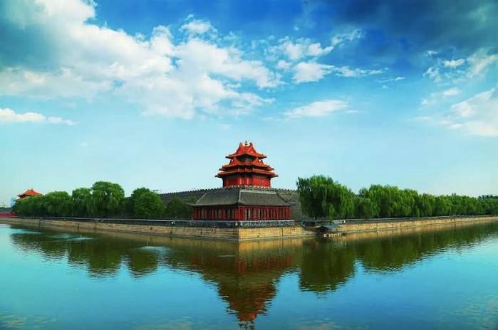 Wooden Corner Building of the Forbidden City Built in 1420