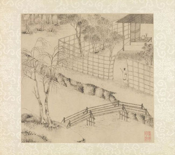 Part of Wen Zhengming's Painting of Humble Administrator's Garden in 1533