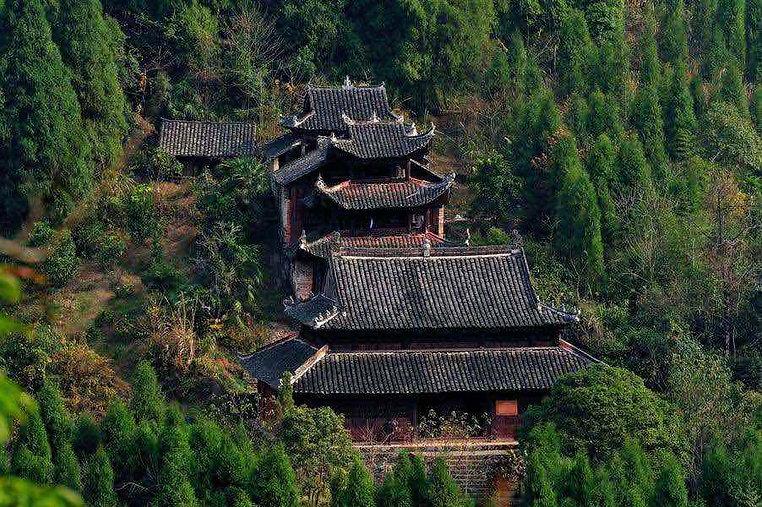 Zushidian Palace complex in Laosicheng Site near Zhangjiajie