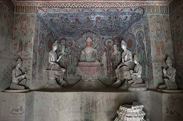 Sculptures and Murals (618 — 712) in the 328 Cave of Mogao Grottoes