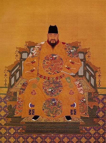 Court Portrait of Zhengtong Emperor Zhu Qizhen