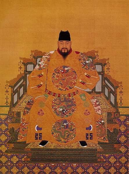 Court Portrait of Zhengtong Emperor Zhu Qizhen