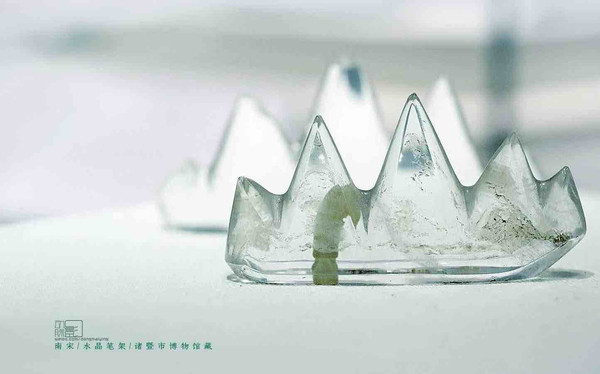 Unearthed Crystal Writing Brush Holder (Bi Jia) of the Southern Song Dynasty