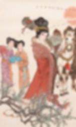 Princess Wang Qiang, also named Wang Zhaojun, on her way to peace making marriage to the Huns
