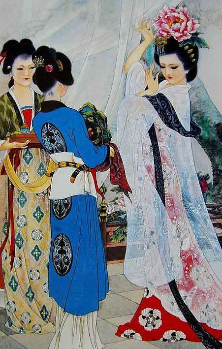 Yang Gui Fei or Yang Yu Huan of Tang Dynasty in history of China