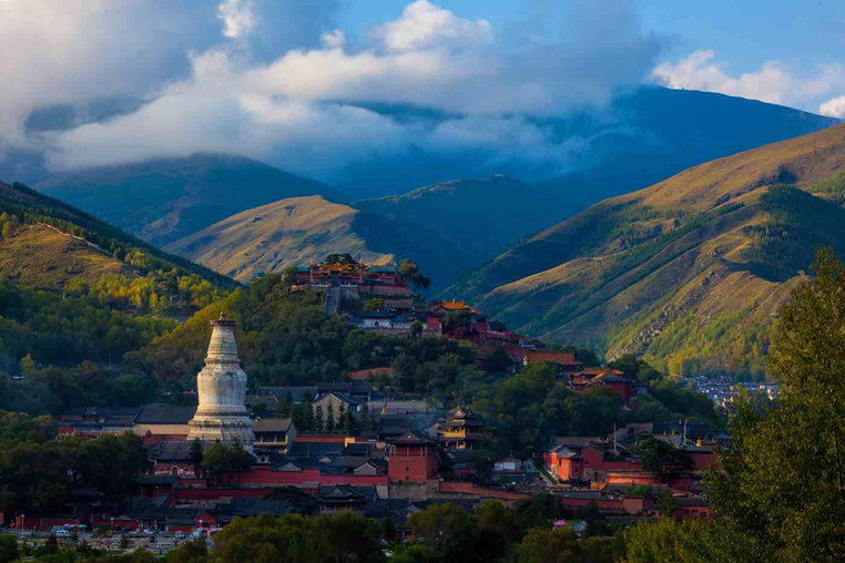 Mount Wutai in Shanxi Province of China