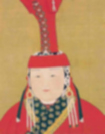 Portrait of Queen Chabi, By Artist Liu Guandao of the Yuan Dynasty