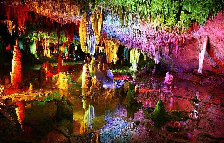 Yellow Dragon Cave or Huanglong Dong in Zhangjiajie