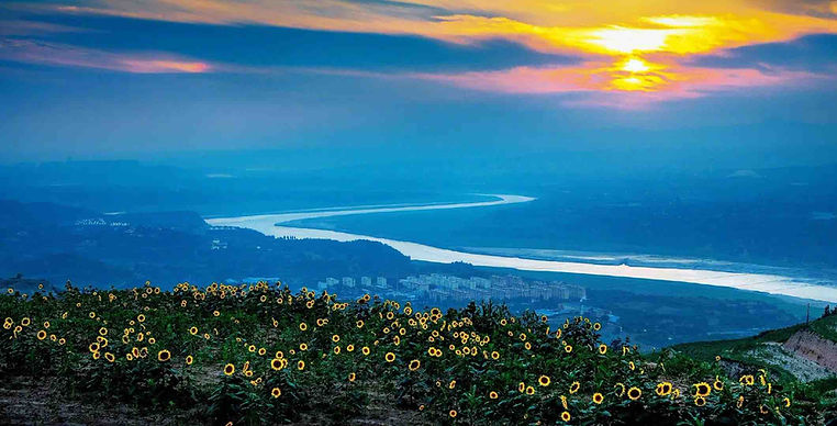 Yellow River or Huang He in Henan Province