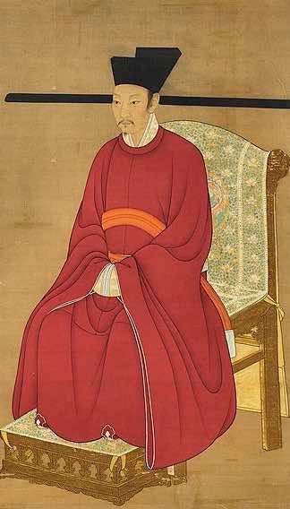 Portrait of Zhao Huan the Emperor Qinzong of Song, By Court Artist of the Song Dynasty