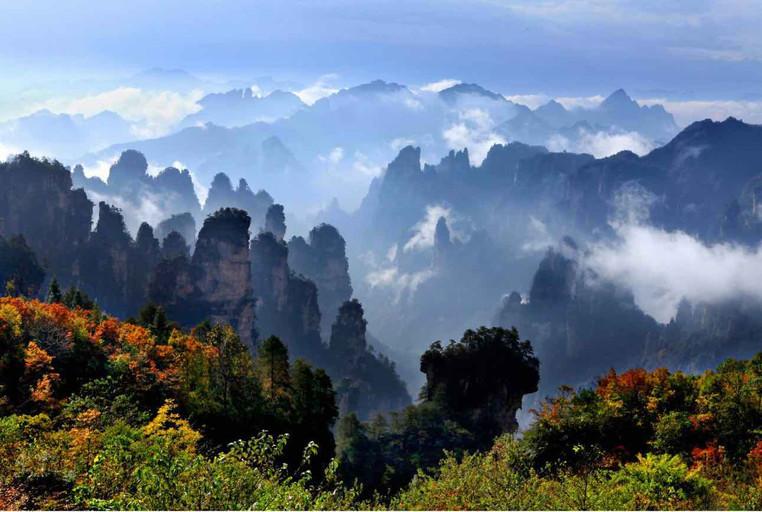 Autumn View of Shentang Gulf in Zhangjiajie