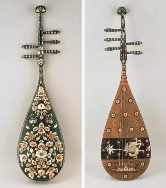 Chinese Musical Instrument Lute of the Tang Dynasty (618 — 907)