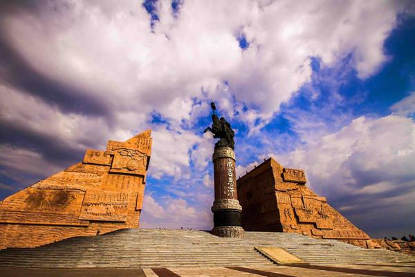 Mausoleum of Genghis Khan in Ejin Horo Banner, Inner Mongolia.