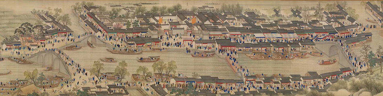 "Part of ""Kangxi Emperor's Southern Inspection Tour"" (Kangxi Nan Xun Tu) that Describes Kangxi Emperor's Visit in Jiangsu Province"