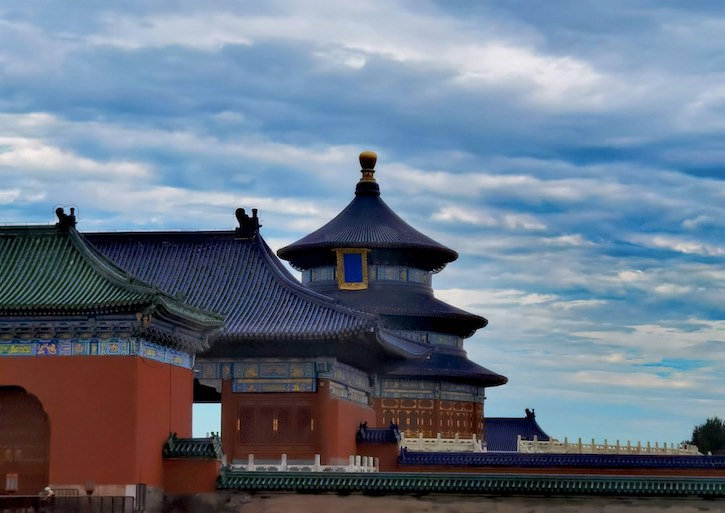 Ancient Building Complex of the Temple of Heaven or Tiantan
