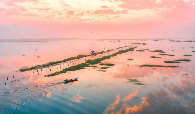 Poyang Lake of Jiangxi Province