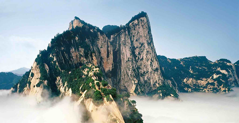 Mount Hua in Shaanxi Province of China