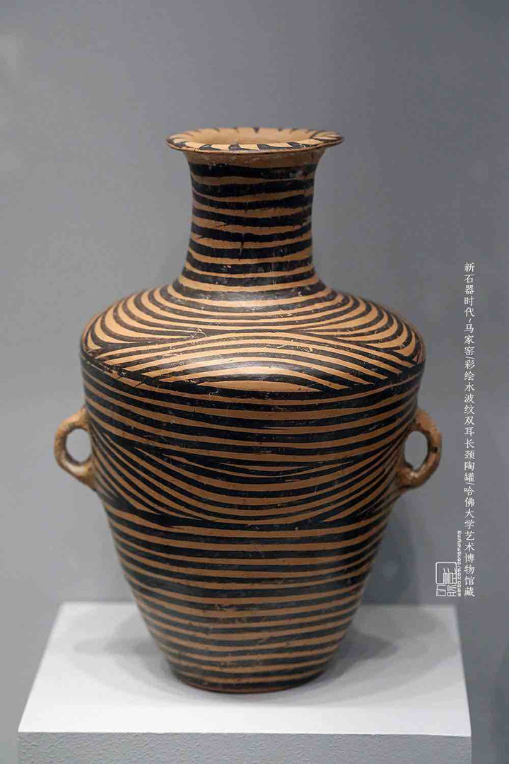 Painted Pottery Pot Decorated with Water Ripples Patterns — Harvard Art Museums ripples