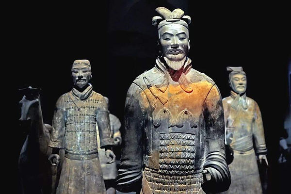 Unearthed Terracotta Warriors of the Qin Dynasty
