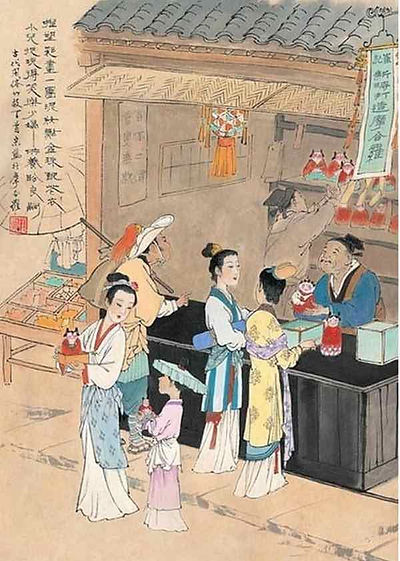 People Buying Mohele for the Qixi Festival