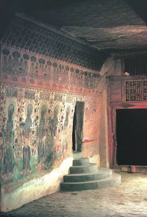 The Door of the Dunhuang Library Cave or Cangjing Dong