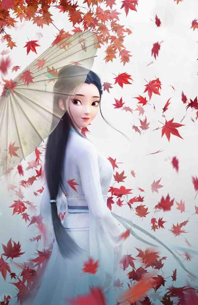 "Image of Lady White Snake in Fantasy Movie ""White Snake"""