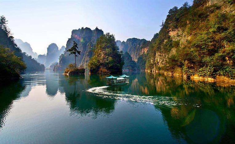 Beautiful Baofeng Lake or Baofeng Hu in Zhangjiajie