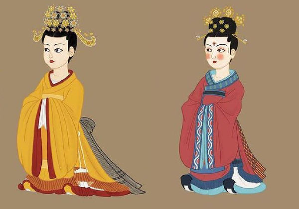 Presumptive Ceremonial Outfits of Empresses of Tang Dynasty