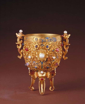Golden Gem Cup of Emperor Qian Long (1711 — 1799)