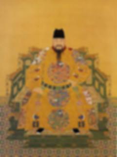 Portrait of Chenghua Emperor Zhu Jianshen, By Court Artist of the Ming Dynasty