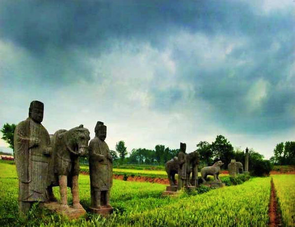 Stone Statues Guarding In Front of Emperor Zhao Kuangyin's Mausoleum  (Yong Chang Ling)