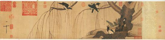 Willow and Crow (Liu Ya Tu) (223 cm × 34 cm) — Shanghai Museum